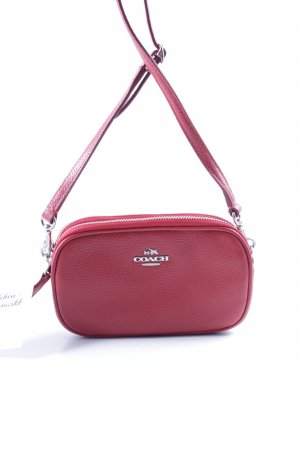 "Coach Sac de soirée ""XBody Pouch Pebbled Leather Silver/True Red"""