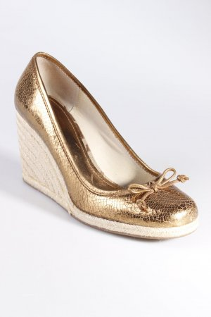 Coach Pumps Keilabsatz bronze