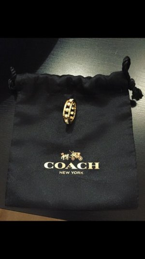 Coach Ring in Gold mit Perlen