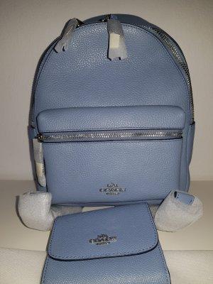 Coach Sac à dos bleu azur cuir