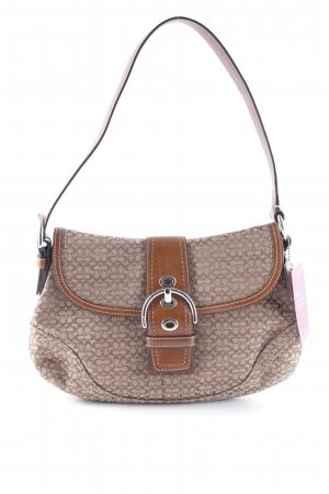Coach Shoulder Bag light brown-brown abstract pattern casual look