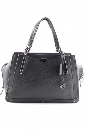 "Coach Sac porté épaule ""Mixed Leather Pebbled Dreamer 36 Black"" noir"