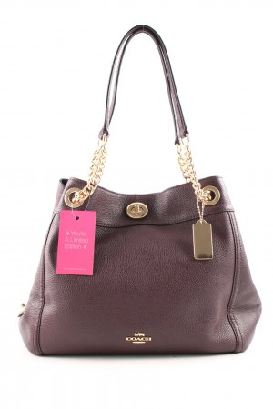"Coach Schultertasche ""Polished Leather Turnlock Edie Shoulder Bag Oxblood"""
