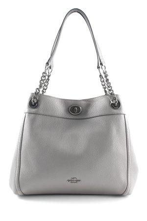 "Coach Sac porté épaule ""Polished Pebbled Leather Turnlock Edie Shoulder Bag Heather Grey"""