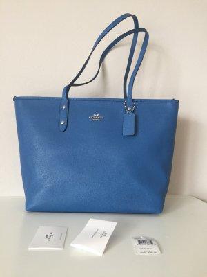 Coach Shopper neu Tasche Handtasche blau Silber City tote