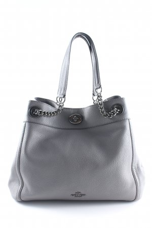 "Coach Shopper ""Polished Pebbled Leather Turnlock Edie Shoulder Bag Heather Grey"""