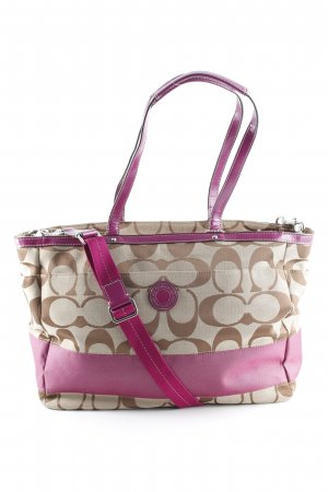 Coach Shopper sandbraun-violett Street-Fashion-Look