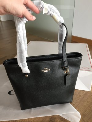 Coach Shopper Tasche Handtasche NEU Zip Tote Schwarz