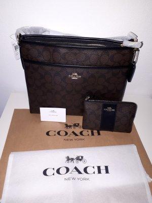 Coach signature crossbody Tasche mit kl. extra Tasche