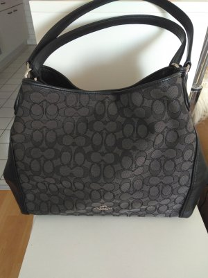 Coach Signature Shoulder Bag Black Smoke/Black