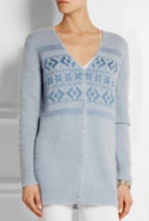 Coach Sky Cardigan Fair Isle Mohair-blend Sweater