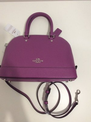 Coach Carry Bag violet leather