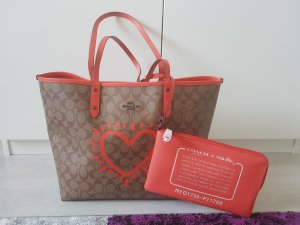 Coach Turn Bag grey brown-orange
