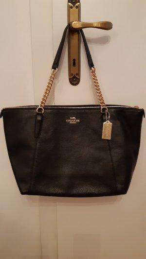 Coach Carry Bag black leather