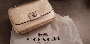 Coach Sac porté épaule doré-argenté