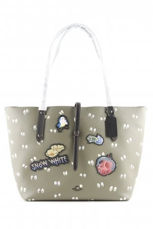 "Coach Tote ""Multi Patches Spooky Eyes Print Market Tote Army Green"""