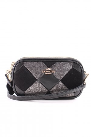 Coach Bandolera negro-color plata estilo «business»