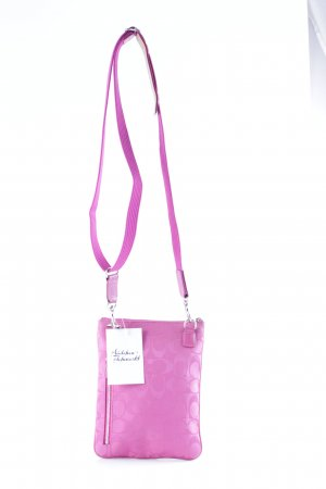 Coach Umhängetasche pink abstraktes Muster Casual-Look