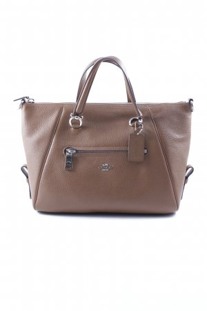 "Coach Umhängetasche ""Primrose Pebbled Leather Satchel Silver/Saddle"" cognac"