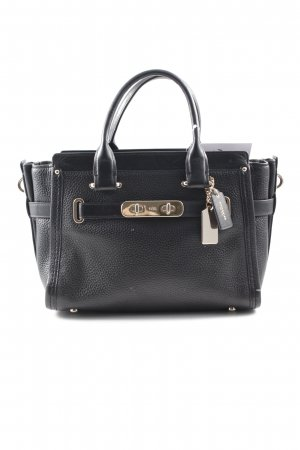 "Coach Umhängetasche ""Swagger 27 Carryall Pebbled Cowhide Black"" schwarz"
