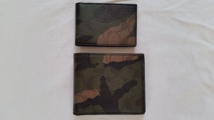 Coach, Wallet/Card Holder, Leder, Camouflage, neu
