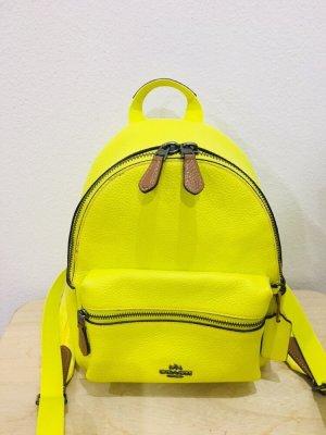 Coach Zaino laptop giallo neon