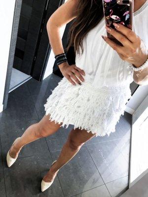 Jupe en dentelle blanc coton