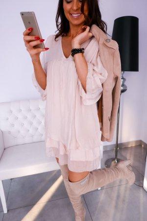 Coachella Stiefelkleid aus Seide - Ibiza Abendkleid Hippie Tunika Lagenlook  Partykleid A-Linie Blogger Knick deba22d11b