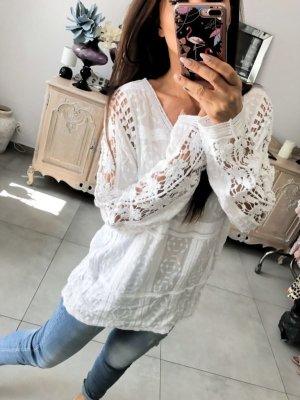 Oversized blouse wit Katoen