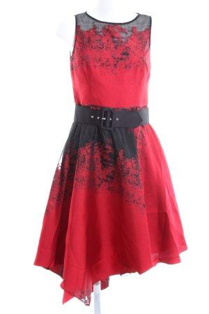 Coast Abendkleid rot-schwarz extravaganter Stil