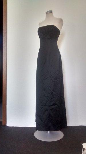 coast Abendkleid Abiball Kleid lang schwarz gothic Seide Gr. 38 Uk 12 Schleppe