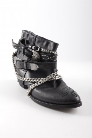 Coast Booties schwarz Ethnomuster Hippie-Look