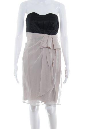 Coast Vestido bustier negro-rosa empolvado elegante