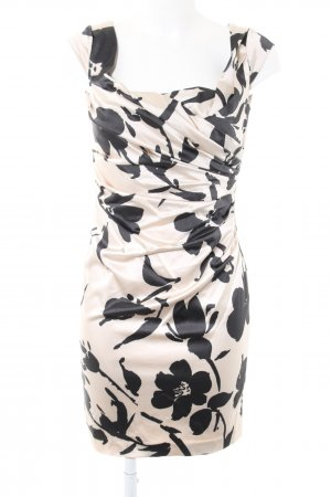 Coast Cocktail Dress cream-black flower pattern business style