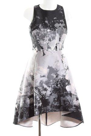 Coast Cocktailkleid schwarz-weiß abstraktes Muster Elegant