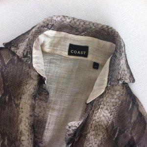 COAST Design hauchfeine Bluse Baumwolle Seide Snakeprint