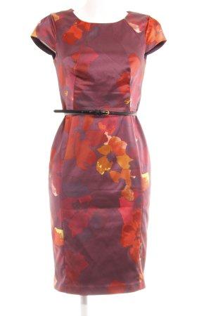 Coast Etuikleid purpur-dunkelrot Blumenmuster Elegant