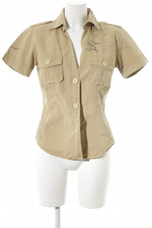 Coast Hemd-Bluse hellrot Schriftzug gedruckt extravaganter Stil