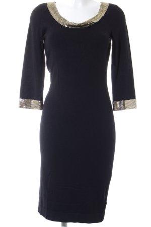 Coast Jerseykleid schwarz-goldfarben extravaganter Stil