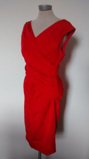 Coast Kleid rot Party Cocktailkleid Gr. UK 12 EUR 40 M Weihnachten Silvester neu! gerafft drappiert