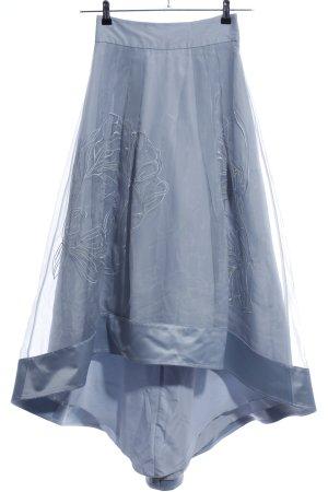 Coast Midi Skirt blue themed print elegant