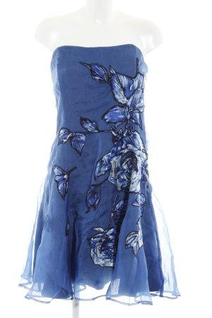 Coast schulterfreies Kleid stahlblau Blumenmuster Elegant