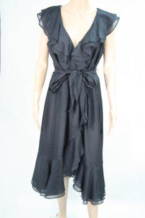 Coast Schwarzes Kleid mit Rüschen