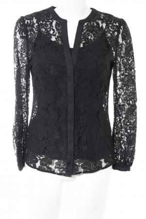 Coast Lace Blouse black mixed pattern business style
