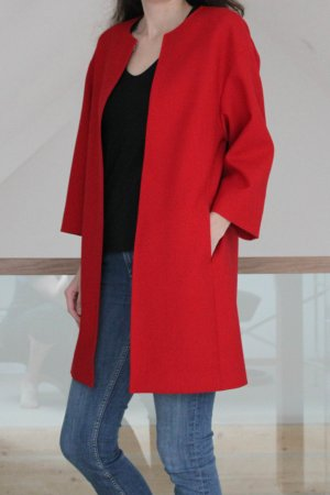 Strenesse Short Coat red new wool