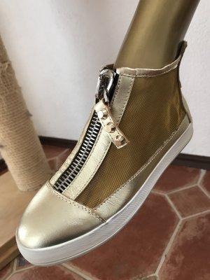 Cobanii, italienische Schuhe, Gold, Gr 37