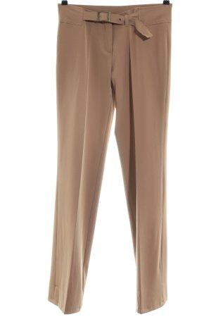 Pantalone a pieghe marrone stile professionale