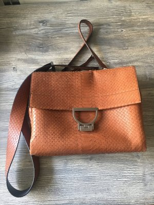 Coccinelle Arlettis Crossbody Bag - Leder -  braun -  Krokomuster - sehr guter Zustand