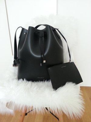 Coccinelle Bucket Bag Blogger schwarz Shopper wie Mansur Gavriel Tasche Leder