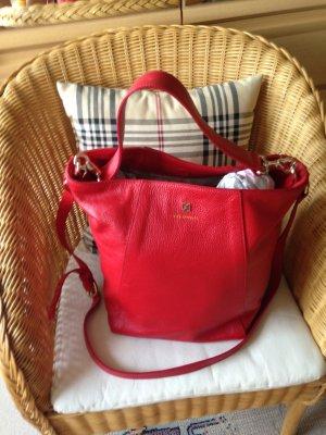 Coccinelle Bucket Bag Leder, rot